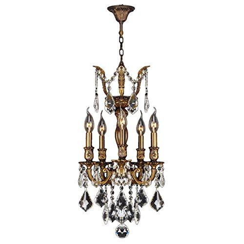 ersailles Collection 5 Light Antique Bronze Finish and Clear Crystal Chandelier 13