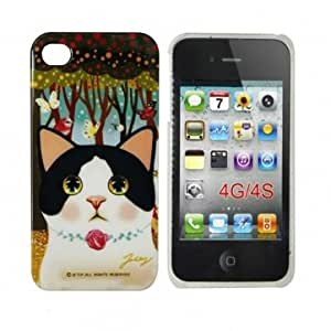 Jetoy Choo Choo Enjoy In Forest Plastic Case Cover For iPhone 4 4S