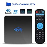 International IPTV Receiver Box with Life-time Subscription for 1600+ Global Live Channels IPTV Player Include North American European Asian Arabic Programs