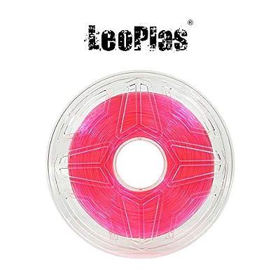 LeoPlas New Store USA Warehouse 1.75mm Soft Flexible Translucent Pink TPU Filament 16 Colors 1Kg 2.2 Pounds FDM 3D Printer Pen Supplies Printing Material Thermoplastic Polyurethanes