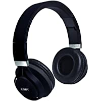 Coby CHBT-612-BLK Force Folding Bluetooth Headphones with Built-In Mic, Black