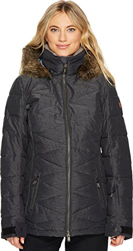 Roxy Snow Junior's Quinn Snow Jacket, True Black, L by Roxy