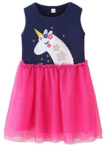 Fiream Big Girls Unicorn Tutu Dresses in Soft Tulle(JP010,9-10Y) ()