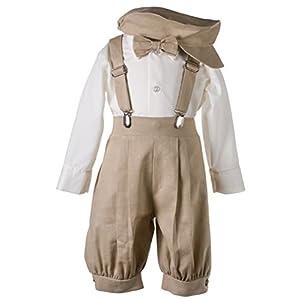 Tuxgear Boys Linen Knickerbocker Outfit with Pageboy Hat
