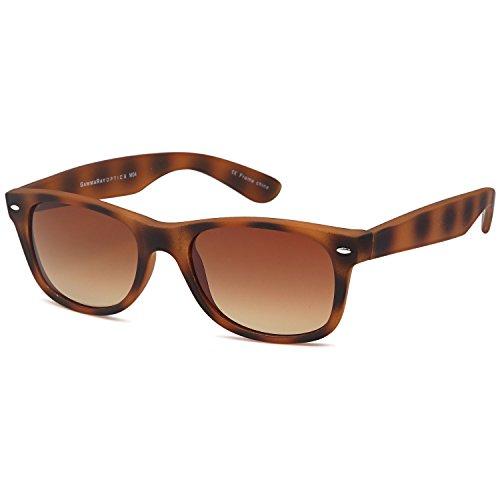 - GAMMA RAY Polarized UV400 Sunglasses Large - Gradient Brown Lens on Tortoise Frame