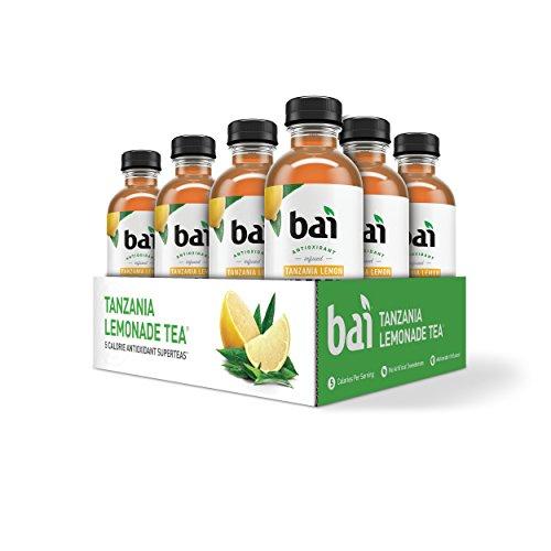 Bai Iced Tea, Tanzania Lemon, Antioxidant Infused Supertea, Crafted with Real Tea (Black Tea, White Tea), 18 Fluid Ounce Bottles, 12 count