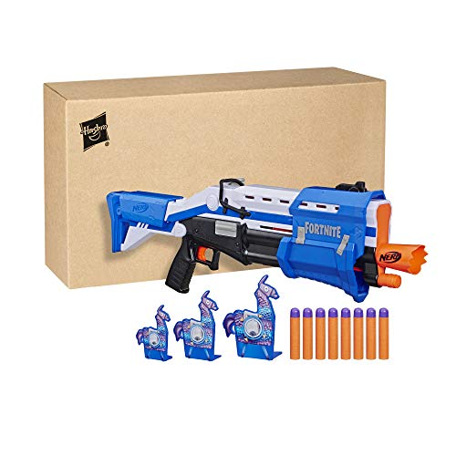 41ejf%2BXA8ML - NERF Fortnite TS-R Blaster & Llama Targets -- Pump Action Blaster, 3 Llama Targets, 8 Official Mega Darts -- for Youth, Teens, Adults (Amazon Exclusive)
