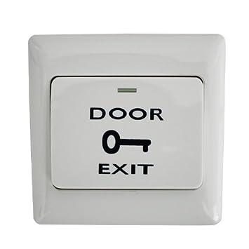 Push Button Door Exit Push Strike Button Panel for Access Control  sc 1 st  Amazon.com & Amazon.com : Push Button Door Exit Push Strike Button Panel for ...