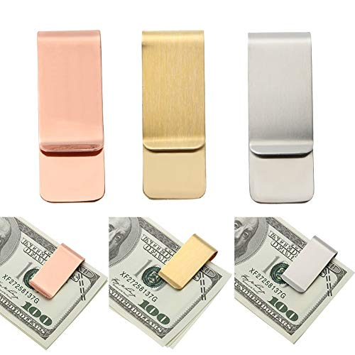 Bill Goud Geld Identificatie Aprigy Portemonnee Portemonnee RVS Houder Cash Ketting Rose Clips Metalen Clip Card Goud Credit 7ZxZRCq4