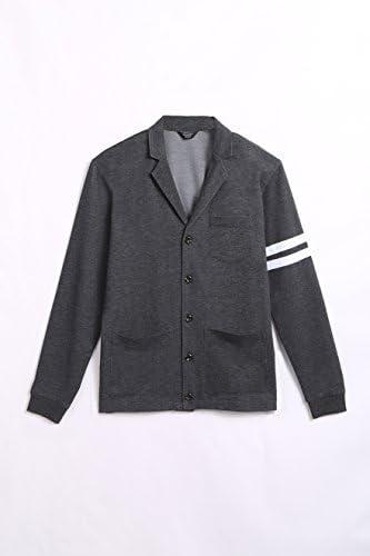 カーディガン メンズ 秋冬服 学生 Vネック 防寒 パーカー ボタンアップ 重ね着 ポケット 大きいサイズ 男女兼用 黒 グレー ネイビー S~XL