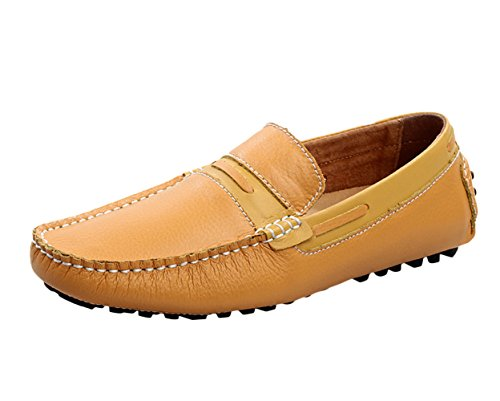 Icegrey Herren Gehen Lässige Schuhe Halbschuhe Gelb 43