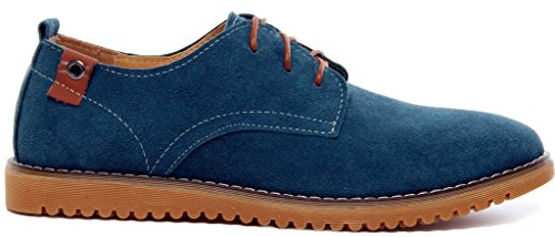 DADAWEN Mens Classic Suede Leather Oxford Dress Shoes Business Casual Shoes Green(b) WLljkz3RrC