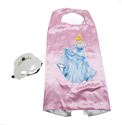 Cinderella Kids Pink Cape and Mask Set (Superhero Outfits)