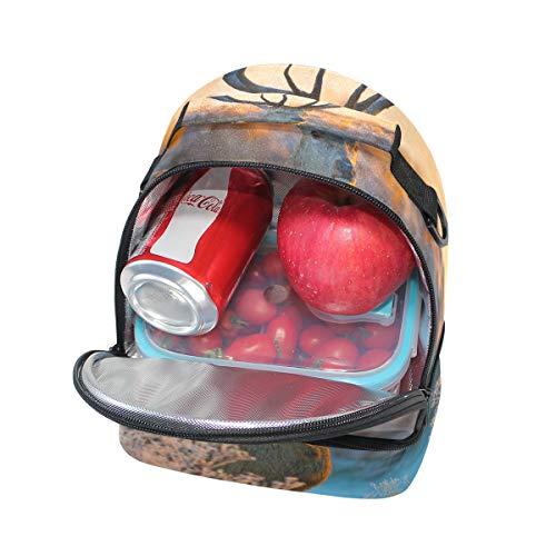 Pincnic à Cerf avec Sac bandoulière à Sac réglable isotherme Alinlo lunch l'école pour Boîte 7wPwq6