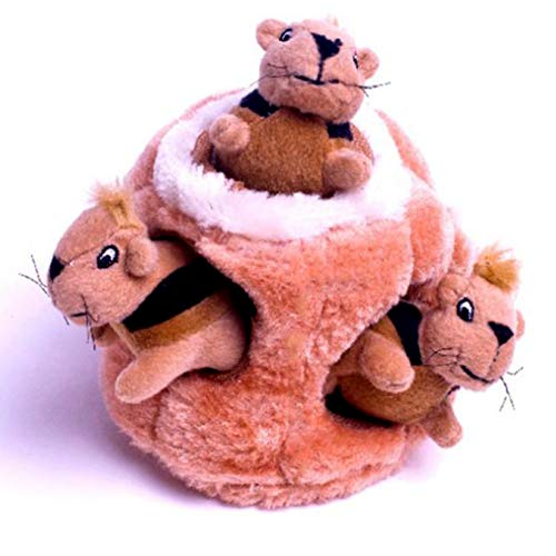Maserfaliw Hide A Squirrel Puzzle Funny Dog Chewing Squeaky Squirrel Hide Puzzle Plush Toy Interactive Pet Supply, Home Decor, Entertainment Toys]()