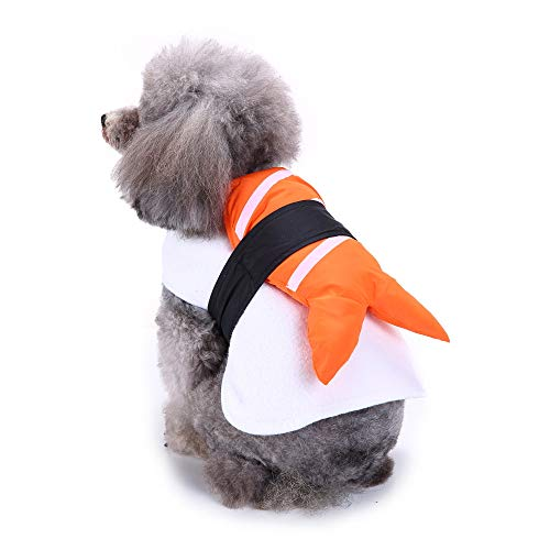 iMakcc Sushi Pet Costume Cute Dog Dress Japanese-Style Clothes Puppy Apparel Pet Supplies (M, -