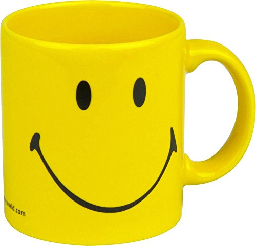 Waechtersbach Smiley Face Mug, Yellow, Set of 4 -