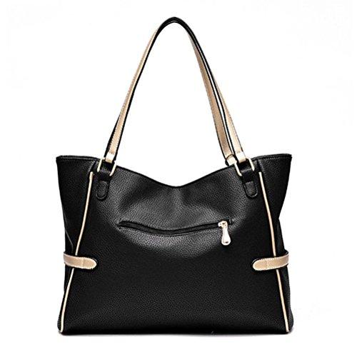 sac main branché femme Sacs noir Fashion qualité Desinger Noir à Sac véritable femme Totes cabas Cuir de Honeymall en Zd71qZ