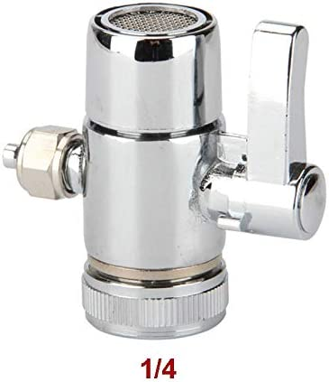 PULLANDSMILES Faucet Adapter Diverter Valve Counter Top Water Filter 1//4 Inch Tube Connector for Ro Water Purifier System