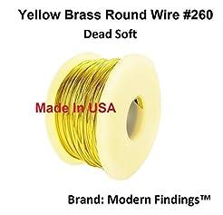 20 Ga Brass Round Wire 1/2 Lb. - 160Ft. ...