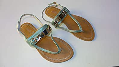 Adora Green Thong Sandal For Women