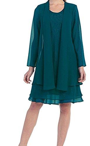 mia Jaeger Chiffon Brautmutterkleider La Formalkleider Abendkleider Bolero Pink Braut mit Fesltichkleider Gruen Damen fpxAOdAH