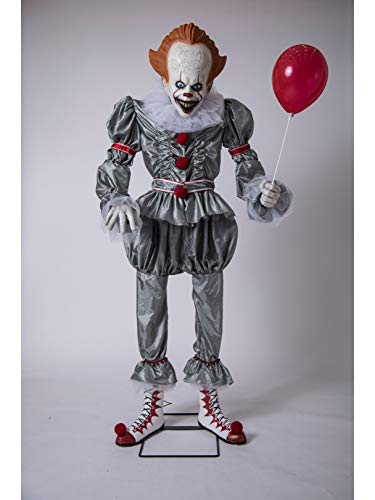 Animated Giant Pennywise Figure Halloween Yard Decoration and Prop, 6' H, by ()