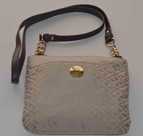 def3130cefd Tommy Hilfiger Women's/Girl's Xbody/Crossbody Handbag, Beige Logos