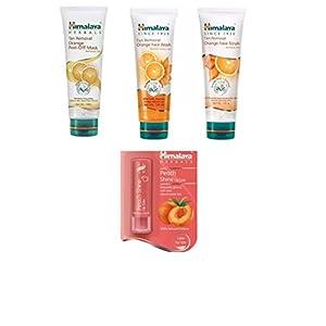 Himalaya Combo Of Tan Removal Orange Peel Off Mask, Tan Removal Orange Face Wash, Tan Removal Orange Face Scrub, Peach…
