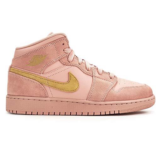 Jordan Nike Men's Air 1 MID SE Coral Stardust/Coral Stardust/Club Gold 852542-600