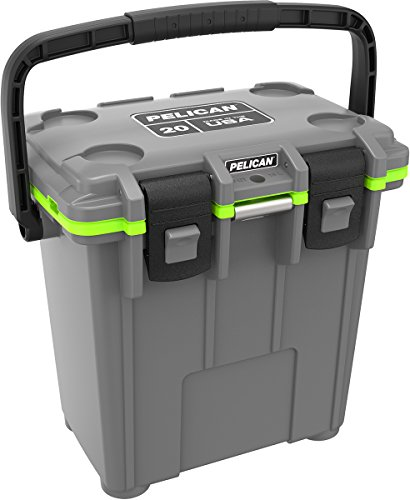 Pelican Elite 20 Quart Cooler (Dark Grey/Green) (Elite Ice)