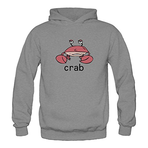 xieling-womens-funny-red-crab-design-sweatshirts-hoodie
