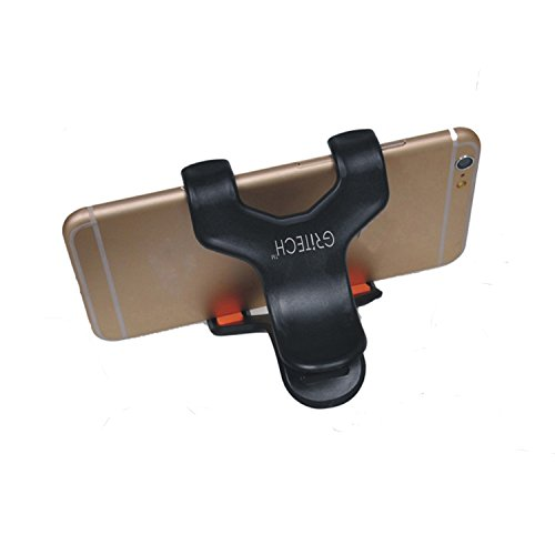 Gritech Clamp Phone Holder for Apple iPhone 6 Plus 6 5S 5C 5 4S 4 ipod, Samsung Galaxy S6 S5 S4 S3, Note 4 3 2, LG G3 G2, HTC One M8, Motorola Moto X G, Nexus 6 5, Sony Xperia Z2