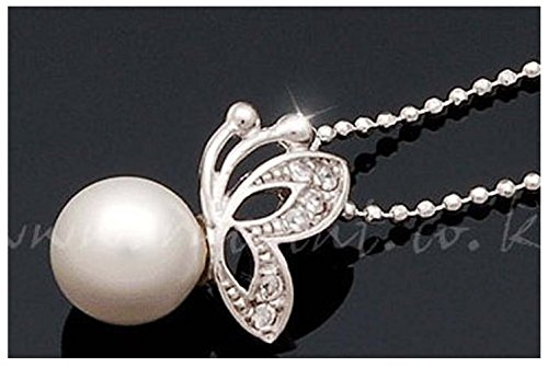 Mr Rabbit New Popular Beautiful Temperament Short Paragraph Clavicle Necklace Pearl Diamond (Homemade 80s Costumes For Couples)
