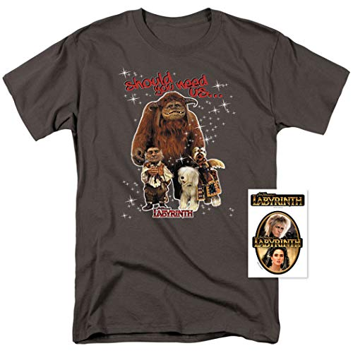 4602d9294 Popfunk Labyrinth Friends Movie Hoggle Ludo Sir Didymus T Shirt & Stickers  | Amazon.com