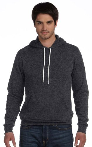 Bella + Canvas Unisex Poly-Cotton Fleece Pullover Hoodie (3719)- Dk Gray Heather,X-Large