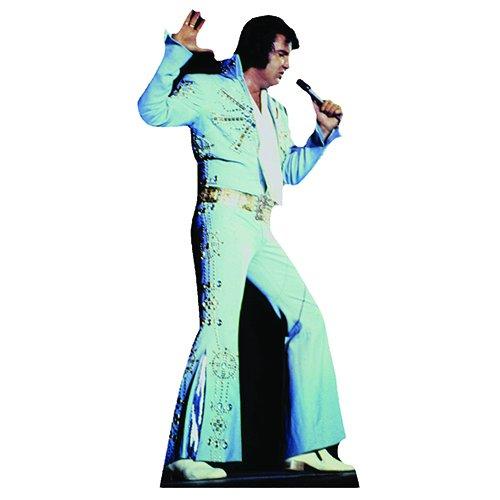 SC240 Elvis Presley Blue Jumpsuit Cardboard Cutout (Elvis Stand Up)