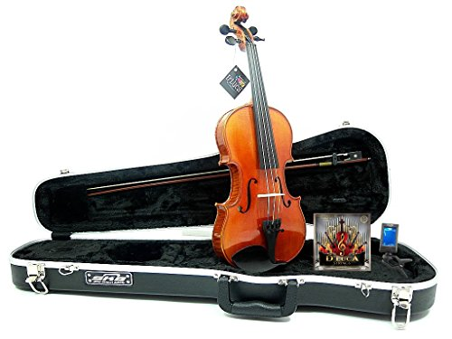 D'Luca PROJBV44 Strauss Professional Violin Outfit 4/4 with SKB Case, Strings and Tuner