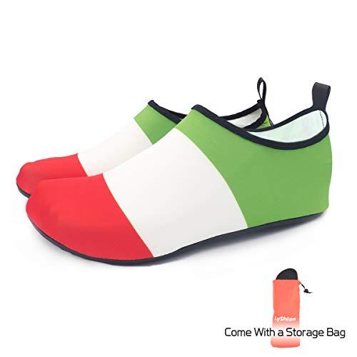Schage Unisexe Il Aqua Respirantes Enfants Rapide Femmes La Plage Chaussettes Nus Chaussures Pour Yoga lgres Ultra Drapeau Lyshion D'eau Pieds Natation Hommes RqOxHp