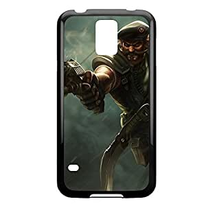 Gangplank-004 League of Legends LoLDiy For SamSung Galaxy S6 Case Cover Plastic Black