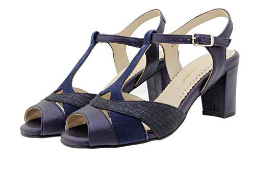 Cómodo Mujer Venus Marino Tacón Zapato 180258 Sandalia Piesanto dZvdw4