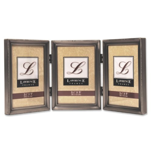 Lawrence Frames Metal Picture Frame Silver-Plate with Delicate Beading, 5 by 7-Inch by Lawrence ()