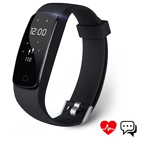 Fitness Tracker Aneken Activity Tracker with Heart Rate Monitor Bluetooth Smart Bracelet with Sleep Monitor Smart Watch for Android iOS Smartphone