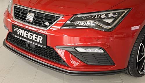 Rieger Frontal Alerón Espada Negro Mate para Seat Leon FR (5 F)/Cupra (5 F): 01.17 (a Partir de Facelift): Amazon.es: Coche y moto