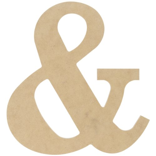 MPI MDF Classic Font Wood Letters and Numbers, 9.5-Inch, Symbol & -