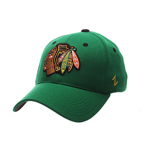 Nhl Chicago Blackhawks Mens Breakaway Cap  Large  Kelly