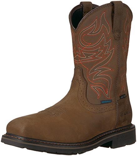 Ariat Work Men's Sierra Delta H2O Steel Toe Construction Boot, Oily Distressed Brown, 9.5 D US