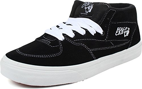 Vans Unisex Half Cab Skate Shoes Black 11