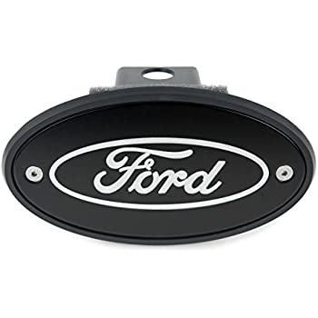 Amazon Com Ford Oval Hitch Receiver Cover Black