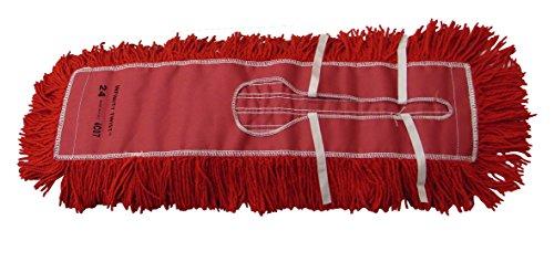 Golden Star AJU24CITR Jumbo Infinity Twist Dust Mop Head, 5'' x 24'', Red (Pack of 12) by GoldenStar